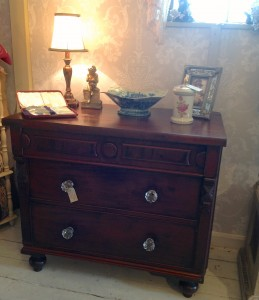 Three drawer cabinet mahogany furniture