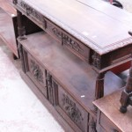 circa 1890 hand painted oak buffet with marble inner - Before