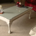 claw and ball foot coffee table hand painted furniture in Annie Sloan