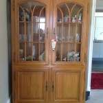 large display cabinet before being hand painted with Annie Sloan