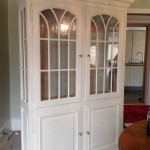 large display cabinet hand-painted furniture in Annie Sloan